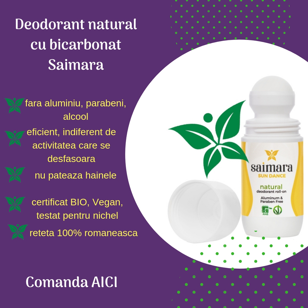 Deodorante cu bicarbonat Saimara